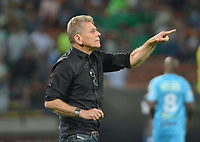 MEDELLÍN - COLOMBIA ,02-02-2019:Paulo Autuori de Mello director técnico del Atlético Nacional  ante Jaguares de Córdoba.Acción de juego entre los equipos Atlético Nacional y Jaguaresde Córdoba durante partido por la fecha 3 de la Liga Águila I 2019 jugado en el estadio Atanasio Girardot de la ciudad de Medellín. / Paulo Autuori de Mello coach of Atletico Nacional agaisnt of Jaguares of Cordoba.Action game between Atletico Nacional y Jaguares de Cordoba  during the match for the date 3 of the Liga Aguila I 2019 played at the Atanasio Girardot  Stadium in Medellin  city. Photo: VizzorImage /León Monsalve / Contribuidor.