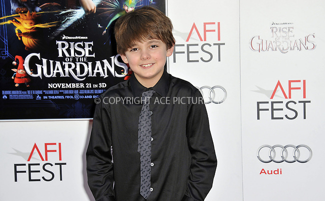 WWW.ACEPIXS.COM....November 4 2012, LA....Max Charles arriving at the gala screening of 'Rise Of The Guardians' during the 2012 AFI FEST at Grauman's Chinese Theatre on November 4, 2012 in Hollywood, California. ......By Line: Peter West/ACE Pictures......ACE Pictures, Inc...tel: 646 769 0430..Email: info@acepixs.com..www.acepixs.com