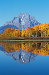 Mount Moran at Oxbow Bend in Grand Teton National Park, Wyoming.
