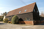 House in converted barn, Shottisham, Suffolk, England, UK