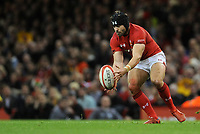 Wales' Leigh Halfpenny picks up the loose ball<br /> <br /> Photographer Ian Cook/CameraSport<br /> <br /> Under Armour Series Autumn Internationals - Wales v Australia - Saturday 10th November 2018 - Principality Stadium - Cardiff<br /> <br /> World Copyright © 2018 CameraSport. All rights reserved. 43 Linden Ave. Countesthorpe. Leicester. England. LE8 5PG - Tel: +44 (0) 116 277 4147 - admin@camerasport.com - www.camerasport.com