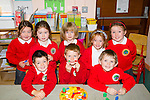 My first school day<br /> -------------------------<br /> pictured in Derryquay NS last Wednesday on their first day at school