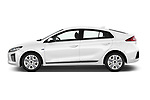 Car Driver side profile view of a 2017 Hyundai Ioniq-Hybrid Executive 5 Door Hatchback Side View