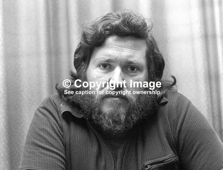 John McGuffin, Belfast, N Ireland, former internee, author of The Guineapigs, 197412090691a<br /> <br /> Copyright Image from Victor Patterson, 54 Dorchester Park, Belfast, United Kingdom, UK.  Tel: +44 28 90661296; Mobile: +44 7802 353836; Voicemail: +44 20 88167153;  Email1: victorpatterson@me.com; Email2: victor@victorpatterson.com<br /> <br /> For my Terms and Conditions of Use go to http://www.victorpatterson.com/Terms_%26_Conditions.html