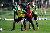 SOTOGRANDE  - Voetbal, Trainingskamp FC Groningen, seizoen 2017-2018, 12-01-2018, FC Groningen speler Gerald Postma en FC Groningen speler Juninho Bacuna