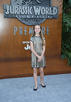 LOS ANGELES, CA - JUNE 12: Isabella Sermon, at Jurassic World: Fallen Kingdom Premiere at Walt Disney Concert Hall, Los Angeles Music Center in Los Angeles, California on June 12, 2018. Credit: Faye Sadou/MediaPunch