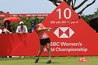 Danielle Kang (USA) in action on the 10th during Round 3 of the HSBC Womens Champions 2018 at Sentosa Golf Club on the Saturday 3rd March 2018.<br /> Picture:  Thos Caffrey / www.golffile.ie<br /> <br /> All photo usage must carry mandatory copyright credit (&copy; Golffile | Thos Caffrey)