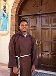 ETHIOPIA , Dire Dawa / AETHIOPIEN, Dire Dawa, katholische Kirche, Waisenheim fuer Maedchen, Kapuziner Priester Yohannes Zekarias