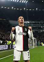Calcio, Coppa Italia round 8 : Juventus - AS Roma, Turin, Allianz Stadium, January 22, 2020.<br /> Juventus' Cristiano Ronaldo (l) celebrates after scoring with his teammates during the Italian Cup football match between Juventus and Roma at the Allianz stadium in Turin, January 22, 2020.<br /> UPDATE IMAGES PRESS/Isabella Bonotto