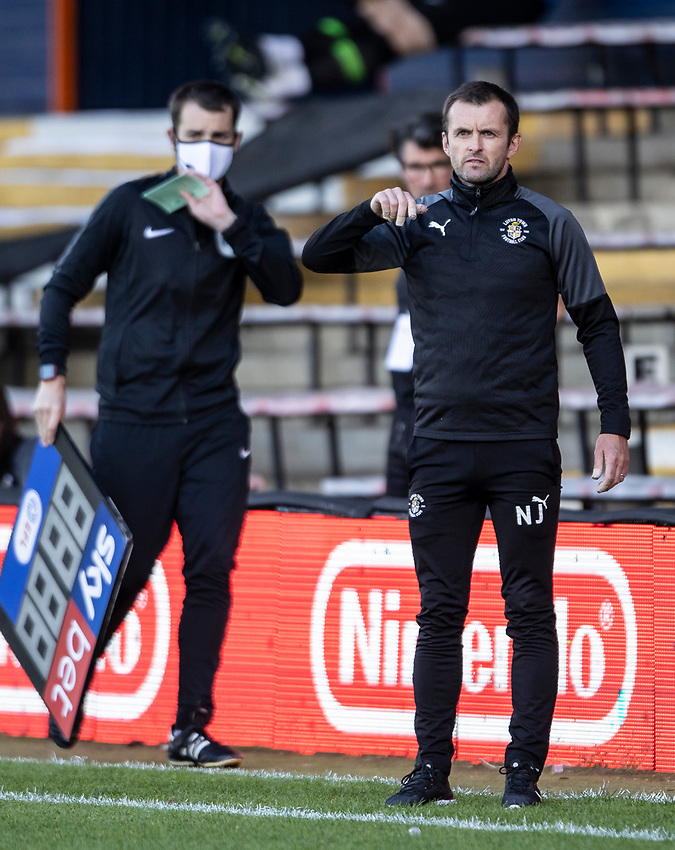 Luton Town's manager  Nathan Jones <br /> <br /> Photographer Andrew Kearns/CameraSport<br /> <br /> The EFL Sky Bet Championship - Luton Town v Preston North End - Saturday 20th June 2020 - Kenilworth Road - Luton<br /> <br /> World Copyright © 2020 CameraSport. All rights reserved. 43 Linden Ave. Countesthorpe. Leicester. England. LE8 5PG - Tel: +44 (0) 116 277 4147 - admin@camerasport.com - www.camerasport.com