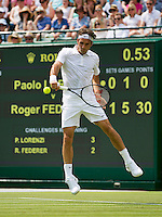 England, London, 24.06.2014. Tennis, Wimbledon, AELTC, Roger Federer (SUI)<br /> Photo: Tennisimages/Henk Koster