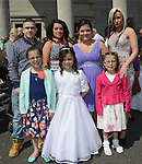 Emily O'Brien and her family pictured after making her First Communion at the Lourdes Church on Saturday. www.newsfile.ie