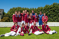 Winner of the  National Primary School Cup Final, Kings Prep, with Black Caps Matt Henry, George Worker and Tom Latham  at the Bert Sutcliffe Oval, Lincoln University, Christchurch, New Zealand. Wednesday 22 November 2017. Photo: John Davidson/www.bwmedia.co.nz