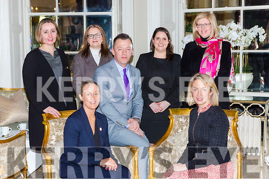 Launching the Killarney Hotels Hotel recruitment day which will be held on Thursday 6th February in the Great Southern Hotel on Saturday front row l-r: Louise O'Connell O'Donoghue/Ring Hotels, Joanne Griffin SKDP. Back row: Milandi Basel Great Southern Hotel, Mary Kelly Gleneagle, Paul O'Sullivan Randles Hotels, Leann Keating Hotel Europe, Dunloe and Ard na Sidhe