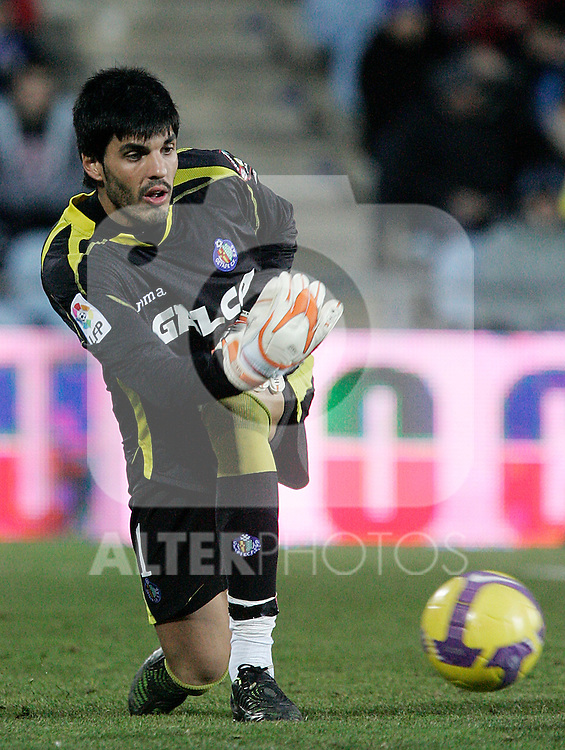 Getafe's Jacobo during La Liga match, January 18, 2009. (ALTERPHOTOS).