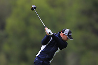 Bryce Easton (RSA) on the 2nd tee during Round 4 of the Challenge Tour Grand Final 2019 at Club de Golf Alcanada, Port d'Alcúdia, Mallorca, Spain on Sunday 10th November 2019.<br /> Picture:  Thos Caffrey / Golffile<br /> <br /> All photo usage must carry mandatory copyright credit (© Golffile | Thos Caffrey)