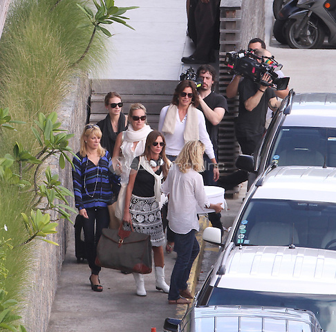 Exclusive.. Exclusive..Exclusive...St Barts. US soap The Real Housewives cast arriving at the airport.Jill Zarin, Sonja Morgan, Ramona Singer, Kelly Bensimon, Bethenny Frankel, Alex McCord and LuAnn de Lesseps MEDIAPUNCHINC