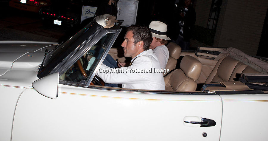 June 16th 2011...David Arquette leaving the Beverly night club in Los Angeles. David was wearing a white suit jacket yellow tie & baby blue pants to match his blue suede shoes ....AbilityFilms@yahoo.com.805-427-3519.www.AbilityFilms.com.