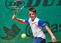 Netherlands, Dordrecht, August 03, 2015, Tennis,  National Junior Championships, NJK, TV Dash 35, Jens Hoogendam<br /> Photo: Tennisimages/Henk Koster