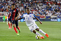 Harrison, NJ - Friday July 07, 2017: Ever Alvarado, Johan Venegas during a 2017 CONCACAF Gold Cup Group A match between the men's national teams of Honduras (HON) vs Costa Rica (CRC) at Red Bull Arena.