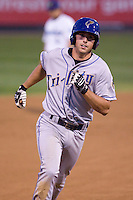 August 24, 2010: Tri-City Dust Devils' Jayson Langfels (55) rounds the bases after hitting a home run during a Northwest League game against the Everett AquaSox at Everett Memorial Stadium in Everett, Washington.