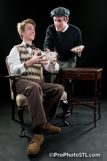 "Publicity images of ""Lost in Yonkers"" by New Jewish Theatre in St. Louis, MO."