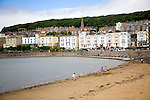 Historic buildings by Marine Lake beach, Weston super Mare, Somerset, England