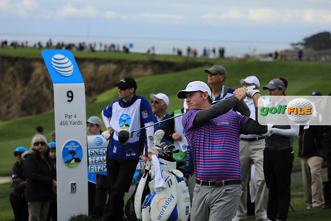 Brandt Snedeker (USA) during the first round of the AT&amp;T Pro-Am, Pebble Beach Golf Links, Monterey, California, USA. 07/02/2019<br /> Picture: Golffile | Phil Inglis<br /> <br /> <br /> All photo usage must carry mandatory copyright credit (&copy; Golffile | Phil Inglis)