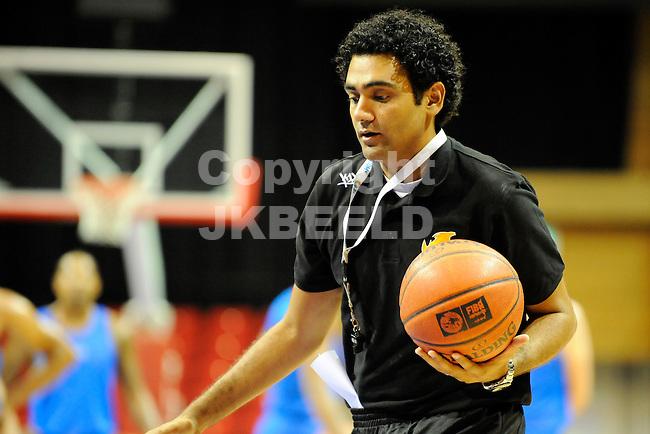 GRONINGEN - Basketbal, Eerste training Gasterra Flames in Martiniplaza, seizoen 2012-2013, 13-08-2012, coach Hakim Sakem  .