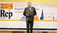 Repubblica delle idee Napoli<br /> nella foto Apertura <br /> nella foto   Carlo De Benedetti<br /> foto Ciro De Luca