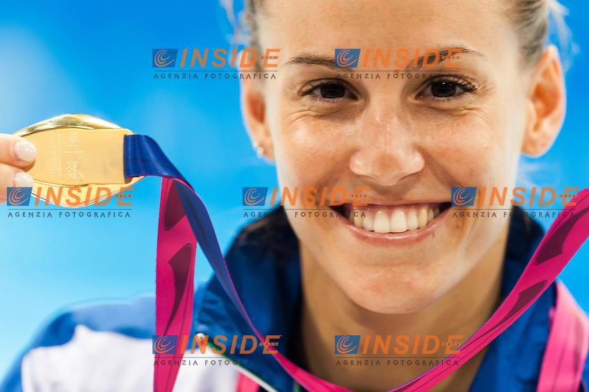 CAGNOTTO Tania ITA gold medal <br /> London, Queen Elizabeth II Olympic Park Pool <br /> LEN 2016 European Aquatics Elite Championships <br /> Diving<br /> Women's 1m springboard final <br /> Day 03 11-05-2016<br /> Photo Giorgio Perottino/Deepbluemedia/Insidefoto