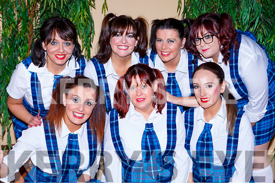 Elaine O'Sullivan, Noeleen Gamble and Lucinda Moriarty. Back row: Magda Choroszews, Edel Murphy, Angie Donoghue and Laura Healy at the Killorglin Panto Pinocchio on Saturday