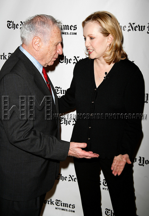 Mel Brooks & Susan Stroman.of YOUNG FRANKENSTEIN attending the New York Times Arts & Leisure Week at the Times Center in New York City..January 13, 2008.© Walter McBride /
