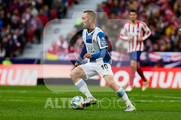 Sergi Darder of RCD Espanyol during La Liga match between Atletico de Madrid and RCD Espanyol at Wanda Metropolitano Stadium in Madrid, Spain. November 10, 2019. (ALTERPHOTOS/A. Perez Meca)