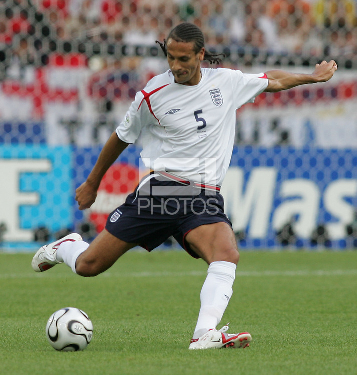 Rio Ferdinand.  England defeated Ecuador, 1-0, in their FIFA World Cup round of 16 match at Gottlieb-Daimler-Stadion in Stuttgart, Germany, June 25, 2006.