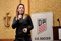 Commerce City, CO - Friday April 26, 2019: U.S. Soccer Girl's Development Academy Spring Showcase DA meeting at Double Tree by Hilton - Stapleton North.