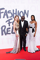 Natalia Vodianova, Edward Enninful, Naomi Campbell at the 2018 Fashion For Relief gala during the 71st Cannes Film Festival, held at Aeroport Cannes Mandelieu in Cannes, France.<br /> CAP/NW<br /> &copy;Nick Watts/Capital Pictures