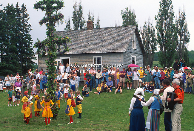 Midsommer Festival, New Sweden, Aroostook County, Maine, USA