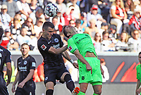 Filip Kostic (Eintracht Frankfurt) beiom Kopfball - 30.09.2018: Eintracht Frankfurt vs. Hannover 96, Commerzbank Arena, DISCLAIMER: DFL regulations prohibit any use of photographs as image sequences and/or quasi-video.
