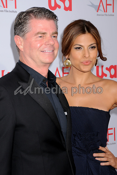12 June 2008 - Hollywood, California - Eva Mendes (right) and guest. 36th Annual AFI Life Achievement Award at the Kodak Theatre. Photo Credit: Byron Purvis/AdMedia