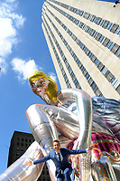 www.acepixs.com<br /> May 12, 2017 New York City<br /> <br /> Artist Jeff Koons unveiled his 45 foot tall inflatable sculpture, Seated Ballerina, at Rockefeller Center in New York City on May 12, 2017.<br /> <br /> Credit: Kristin Callahan/ACE Pictures<br /> <br /> <br /> Tel: 646 769 0430<br /> Email: info@acepixs.com