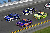 Monster Energy NASCAR Cup Series<br /> Daytona 500<br /> Daytona International Speedway, Daytona Beach, FL USA<br /> Sunday 18 February 2018<br /> Alex Bowman, Hendrick Motorsports, Nationwide Chevrolet Camaro, Denny Hamlin, Joe Gibbs Racing, FedEx Express Toyota Camry, Ryan Blaney, Team Penske, Menards/Peak Ford Fusion, Chase Elliott, Hendrick Motorsports, NAPA Auto Parts Chevrolet Camaro<br /> World Copyright: Logan Whitton<br /> LAT Images