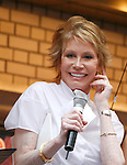 Mary Tyler Moore attending BROADWAY BARKS 10 : The 10th Annual Adopt-a-thon stage presentation in Shubert Alley, New York City.<br />( On Stage - Performance )<br />July 12, 2008