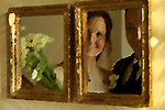 Wedding portrait in mirror