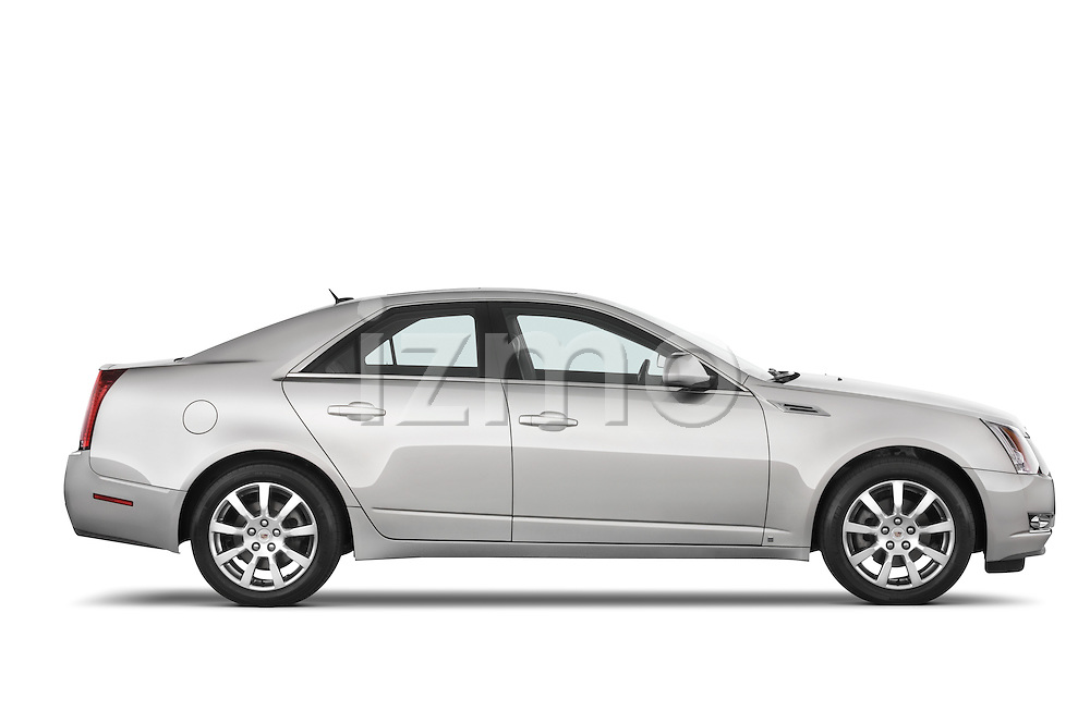 Passenger side profile view of a 2008 Cadillac CTS sedan.