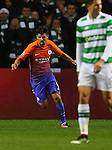 Nolito of Manchester City celebrates scoring their third equalising goal during the Champions League Group C match at the Celtic Park Stadium, Glasgow. Picture date: September 28th, 2016. Pic Simon Bellis/Sportimage