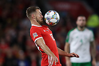 Aaron Ramsey of Wales controls the ball during the Nations League match at Cardiff City Stadium, Cardiff. Picture date 6th September 2018. Picture credit should read: James Wilson/Sportimage PUBLICATIONxNOTxINxUK  <br /> Foto Imago/Insidefoto