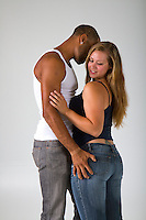 contemporary interracial white woman black man Romance novel cover stock photograph by Jenn LeBlanc for Illustrated Romance and Studio Smexy