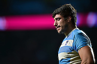 Tomas Lavanini of Argentina looks dejected after the match. Rugby World Cup Semi Final between Argentina v Australia on October 25, 2015 at Twickenham Stadium in London, England. Photo by: Patrick Khachfe / Onside Images