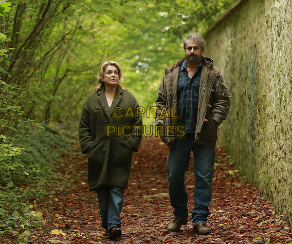 Catherine Deneuve, Gustave Kervern<br /> in In the Courtyard (2014) <br /> (Dans la cour)<br /> *Filmstill - Editorial Use Only*<br /> CAP/FB<br /> Image supplied by Capital Pictures